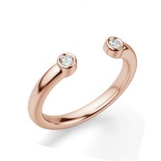 Кольцо с 2 бриллиантами