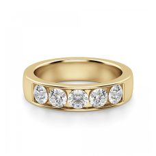 Кольцо дорожка с 5 бриллиантами