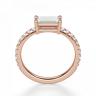 Горизонтальное золотое кольцо с бриллиантом эмеральд, Изображение 2