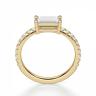 Горизонтальное кольцо с бриллиантом эмеральд, Изображение 2