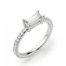 Тонкое кольцо с бриллиантом эмеральд, Изображение 3