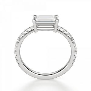 Тонкое кольцо с бриллиантом эмеральд - Фото 1
