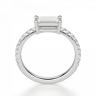 Тонкое кольцо с бриллиантом эмеральд, Изображение 2