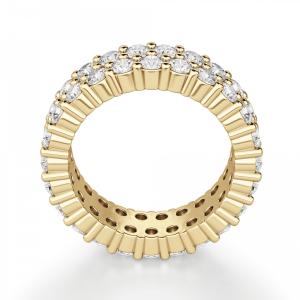 Кольцо двойная дорожка с бриллиантами - Фото 1