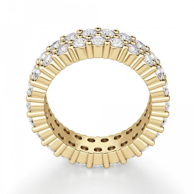 Кольцо двойная дорожка с бриллиантами