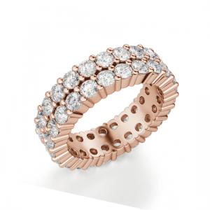 Кольцо с бриллиантами по кругу двойное