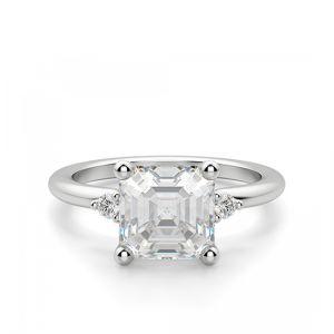 Кольцо с бриллиантом «ашер»