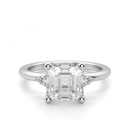 Кольцо с бриллиантом «ашер», Больше Изображение 1