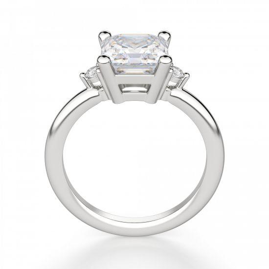 Кольцо с бриллиантом «ашер»,  Больше Изображение 2