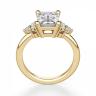 Кольцо из золота с бриллиантом эмеральд в центре, Изображение 3