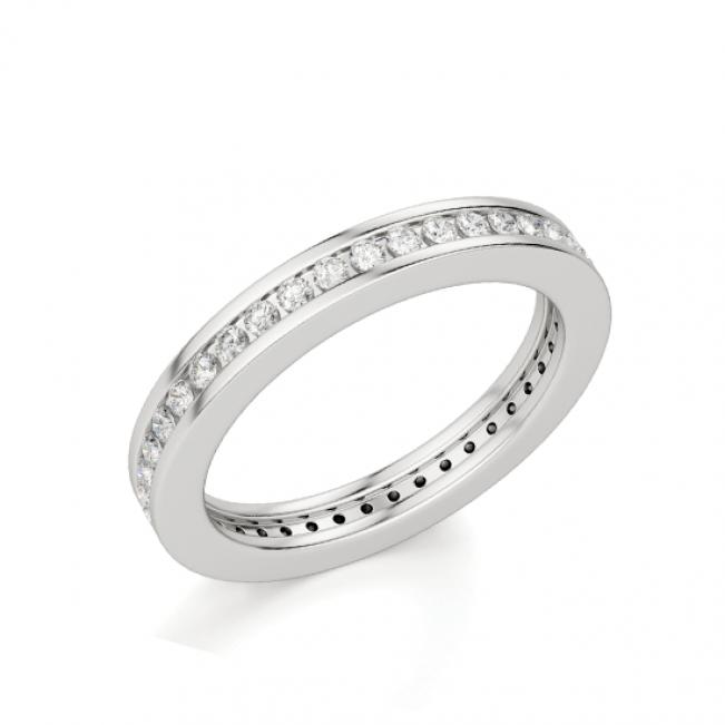 Кольцо дорожка с бриллиантами в канальной закрепке