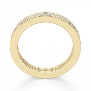 Кольцо дорожка с бриллиантами из желтого золота