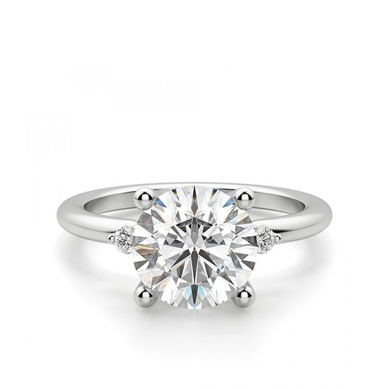 Кольцо с 3 круглыми бриллиантами, Больше Изображение 1