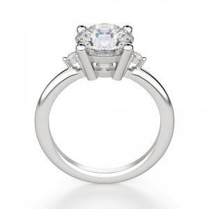 Кольцо с 3 круглыми бриллиантами - Фото 1