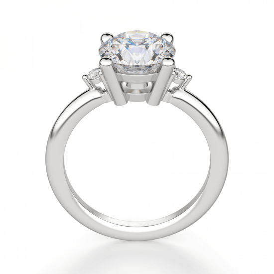 Кольцо с 3 круглыми бриллиантами,  Больше Изображение 2