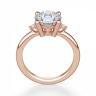 Кольцо с круглыми центральным и боковыми бриллиантами, Изображение 2