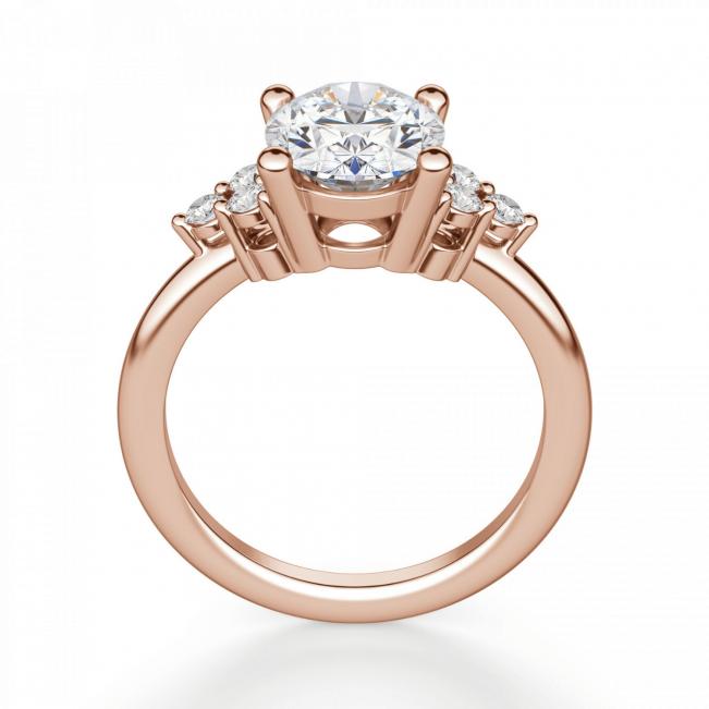 Кольцо с овальным бриллиантом и 6 боковыми
