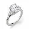 Кольцо с овальным бриллиантом и боковыми, Изображение 2