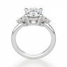 Кольцо с овальным бриллиантом и боковыми, Изображение 3