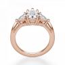 Кольцо с бриллиантом капля и триллионами бриллиантами, Изображение 2