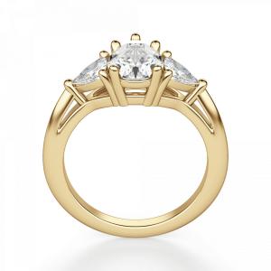 Кольцо с бриллиантом Груша и триллионами