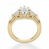 Кольцо с бриллиантом Груша и триллионами, Изображение 2