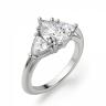 Кольцо с 3 бриллиантами Груша и триллионы, Изображение 3