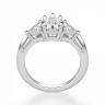 Кольцо с 3 бриллиантами Груша и триллионы, Изображение 2