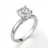 Кольцо из золота с круглым бриллиантом и 2 боковыми, Изображение 3