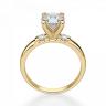 Кольцо с круглым бриллиантом и 2 боковыми, Изображение 2