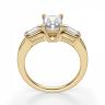Кольцо с бриллиантом Радианти и багетами, Изображение 2