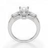 Кольцо с бриллиантом Радиант и багетами, Изображение 2