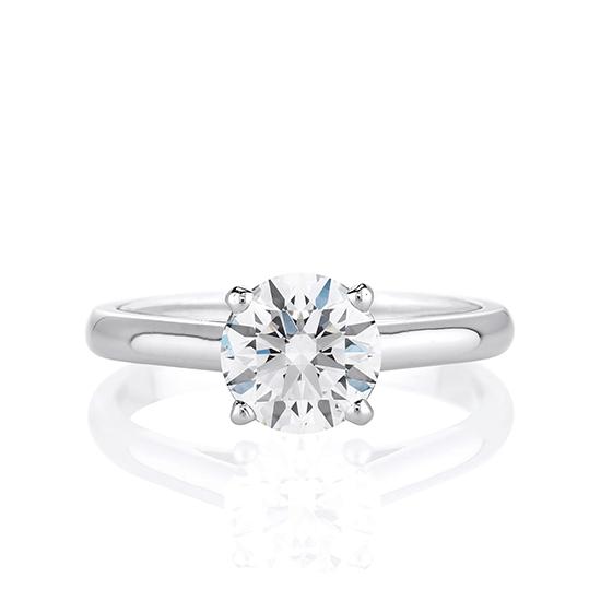 Кольцо с бриллиантом для помолвки из золота, Больше Изображение 1
