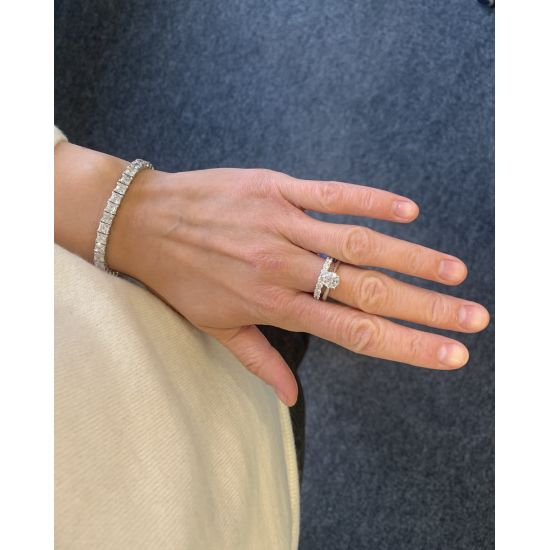 Кольцо с бриллиантом для помолвки из золота,  Больше Изображение 5