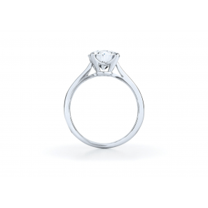 Кольцо с бриллиантом для помолвки из золота