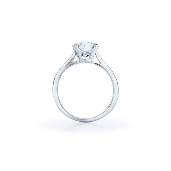 Кольцо с бриллиантом для помолвки из золота,  Больше Изображение 2