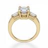 Кольцо с круглым бриллиантом и боковыми бриллиантами, Изображение 2