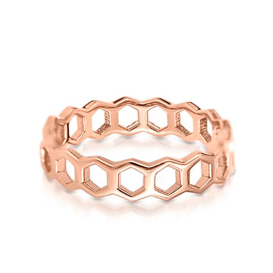 Кольцо Соты из золота 750 пробы, Больше Изображение 1