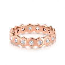 Кольцо дорожка с бриллиантами Miel по кругу