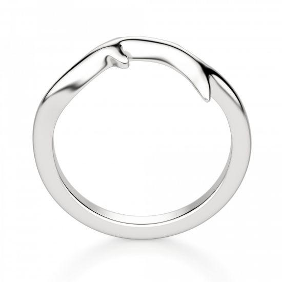 Кольцо из белого золота 750 пробы Веточка,  Больше Изображение 3