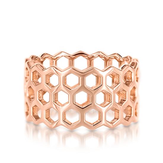 Широкое кольцо из золота без камней, Больше Изображение 1