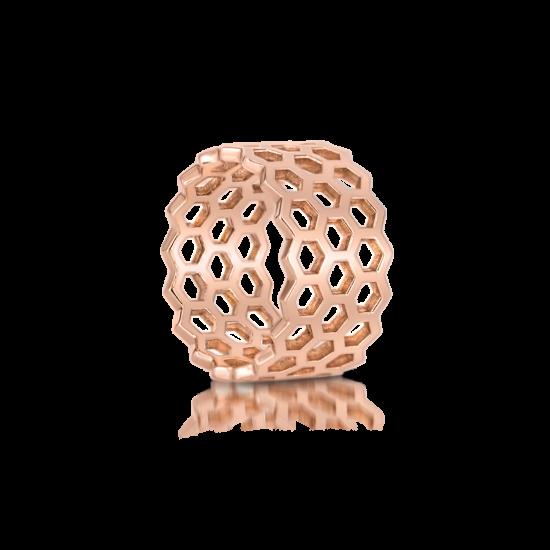 Широкое кольцо из золота без камней,  Больше Изображение 2
