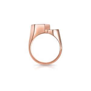 Кольцо печатка из золота Miel