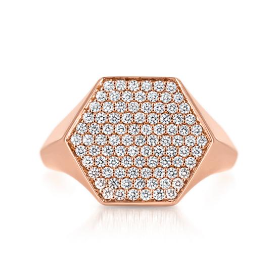 Кольцо печатка с бриллиантами Miel, Больше Изображение 1