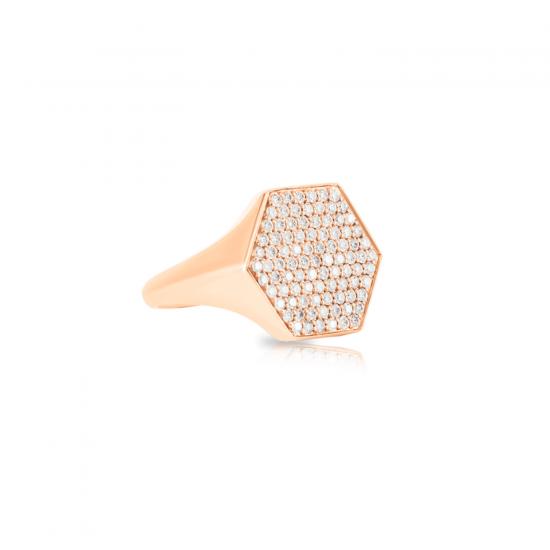 Кольцо печатка с бриллиантами Miel,  Больше Изображение 2