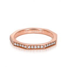Кольцо шестигранное с бриллиантами