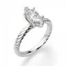 Кольцо с бриллиантом маркиз из белого золота, Изображение 3