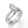 Кольцо с бриллиантом маркиз из белого золота, Изображение 4