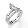 Кольцо с бриллиантом маркиз из белого золота, Изображение 6