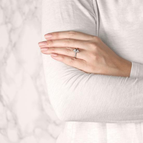 Кольцо с бриллиантом маркиз из золота,  Больше Изображение 7